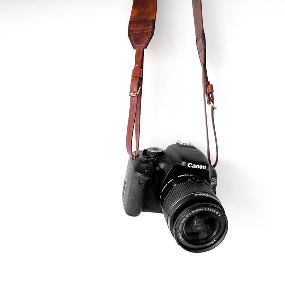 Etsy - Correa de cámara cuero