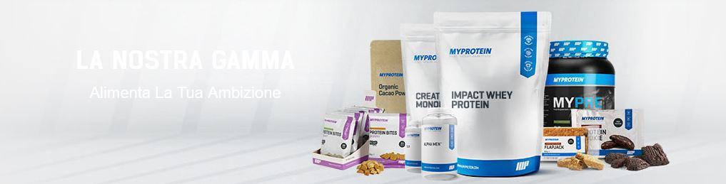 MyProtein - Gamma di prodotti